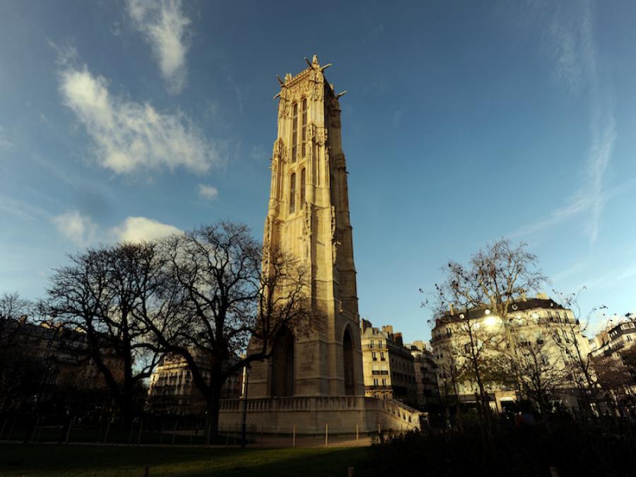 La tour Saint-Jacques à Paris (Paris)